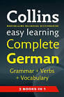 Easy Learning Complete German Grammar, Verbs and Vocabulary (3 books in 1) (Collins Easy Learning German) by Collins Dictionaries (Paperback, 2010)