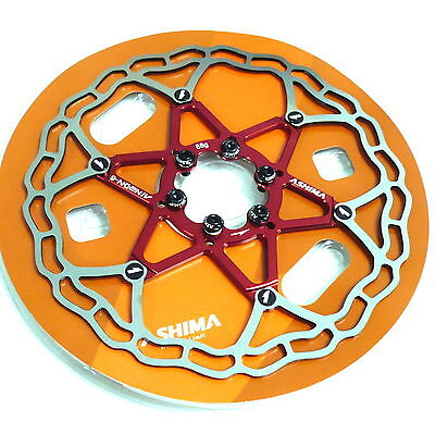 NEW ASHIMA The World/'s Lightest Rotor AiNEON Disc Rotor 180mm RED 88g