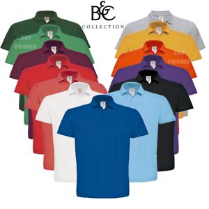 B-amp-C-Para-Hombres-Camisa-Polo-Pique-Para-Damas-De-Algodon-Suave-Cuello-Inteligente-XS-3XL-Unisex