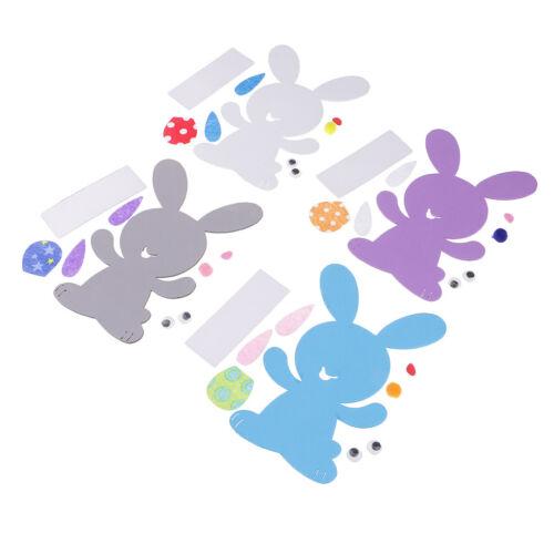 4 Sets DIY Rabbit Foam Material Adhesive for Kids Handmade Toys Card Making