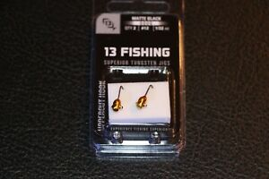 13 Fishing Doug Jig Pack of 2 #12 1//32 oz Hook Ice Fishing Jig Purple