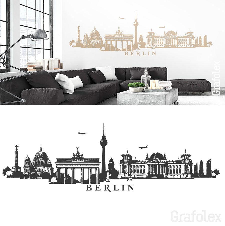 Berlín skyline murales Alemania parojo Sticker Adhesivo de parojo Sticker w115c