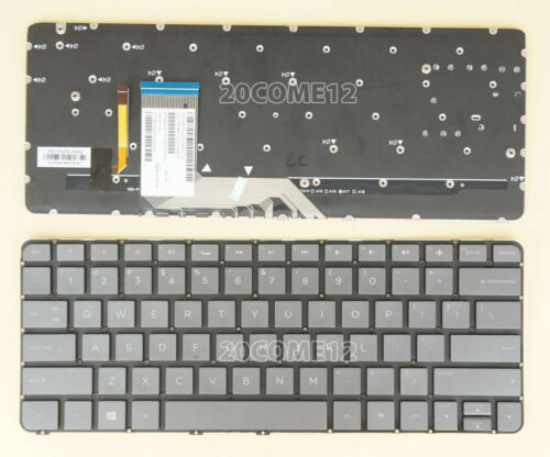 NEW FOR HP Spectre 13-4167nr 13-4183nr 13-4185nr Keyboard Backlit Gray Black US
