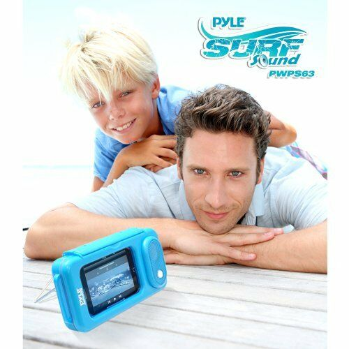 New PWPS63BL Surf Sound Waterproof iPod MP3 /& Smartphone Portable Speaker /& Case
