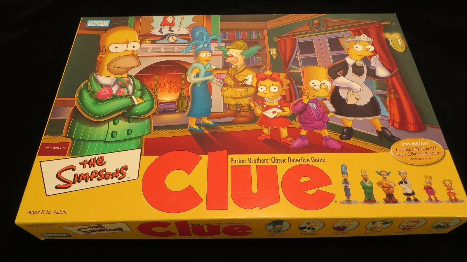 The Simpsons Clue Game Parker Bredhers Classic Detective Game 2nd Ed Collectible