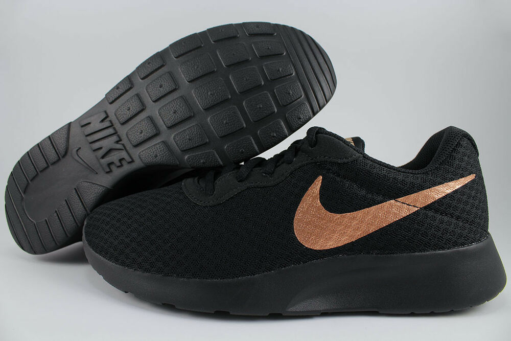 NIKE TANJUN noir/RED BRONZE ROSE GOLD ROSHE ONE courir TWO fonctionnement US Femme Taille