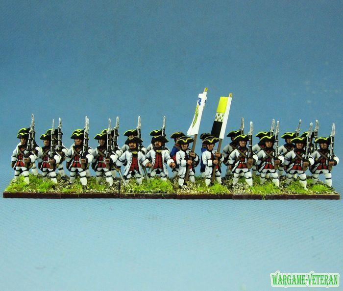 15mm Syw manera Seven Years War Pintado francés 29th Bretagne Regimiento Fa14