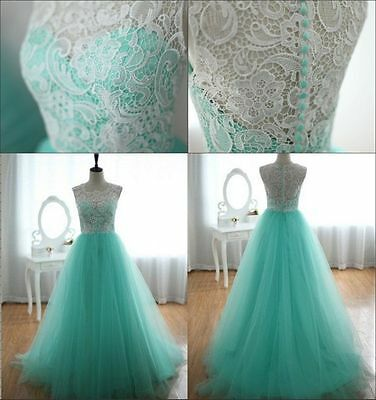Lace Women Long Maxi Cocktail Formal Evening Dress Bridesmaid Prom Party Gown