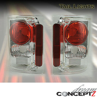 1973-1987 GMC Chevy C K C10 Series Truck tail lights lamps clear lens (L+R)