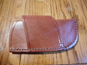 Cosmetic second Brown leather cross draw knife sheath fits Buck 110 or lb7