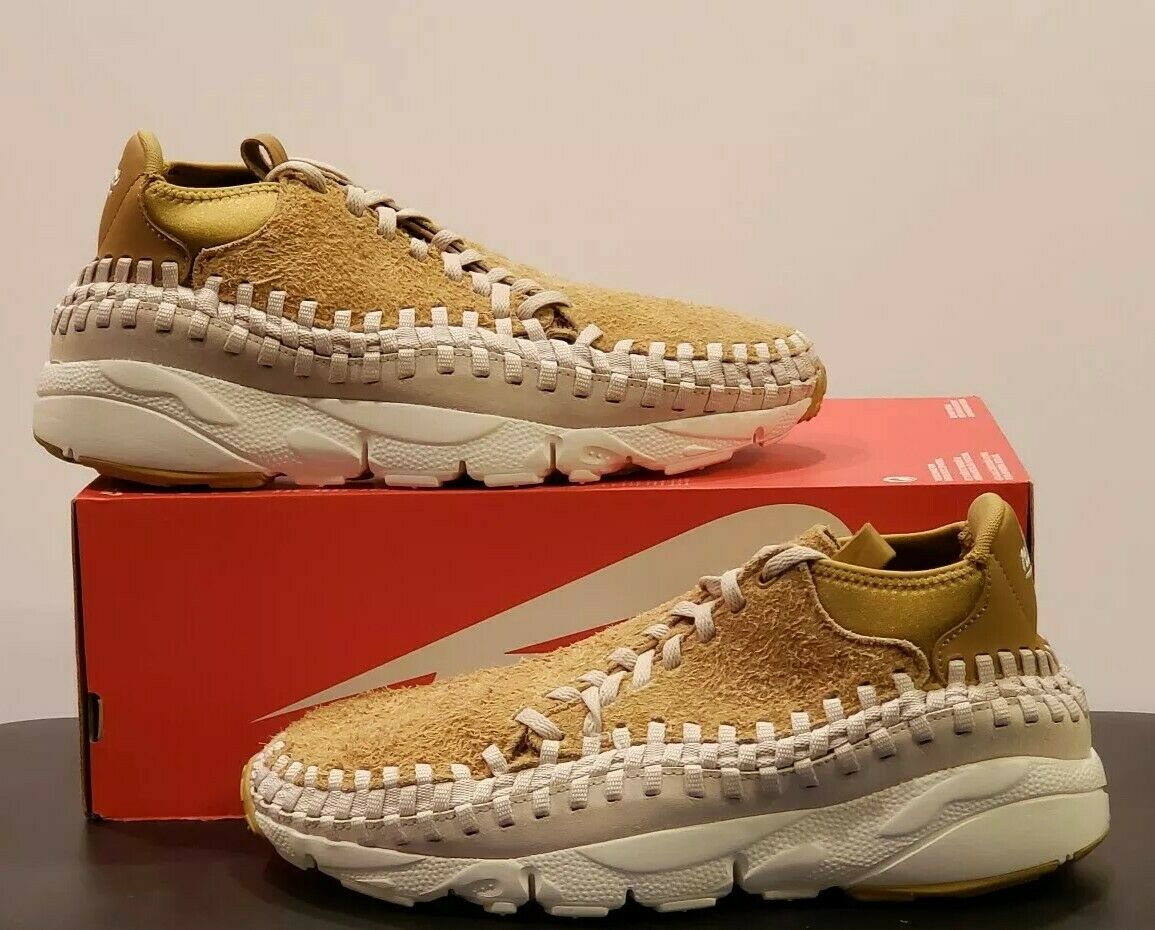 NIKE AIR FOOTSCAPE WOVEN CHUKKA QS FLAT gold MEN'S SZ 13 NEW NO LID 913929-700