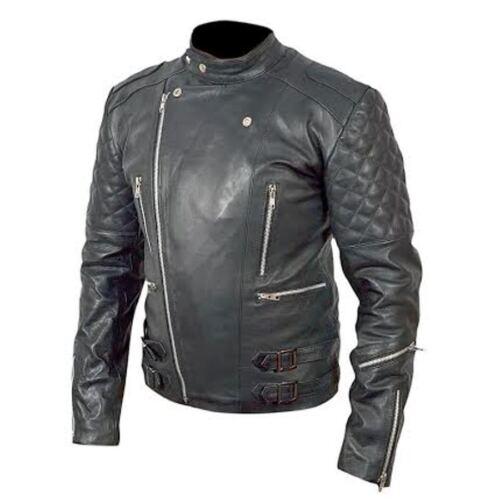 nera motociclista fiore con in Brando Top Giacca da bnwt Grain pelle gcq7yH