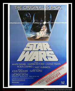 STAR-WARS-RETURN-OF-THE-JEDI-D-27x40-One-Sheet-Movie-Poster-Rerelease-1983
