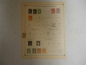Lot-of-12-Vintage-St-Thomas-Postage-Stamps-1912-1926-On-Page-Make-an-Offer