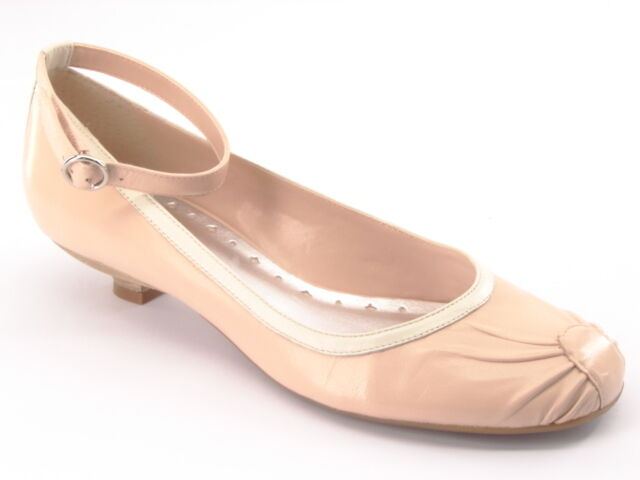 New BCBGirls damen Leather Ballet Ankle Ankle Ankle Strap Kitten Heel Pump schuhe Sz 7.5 B a14577