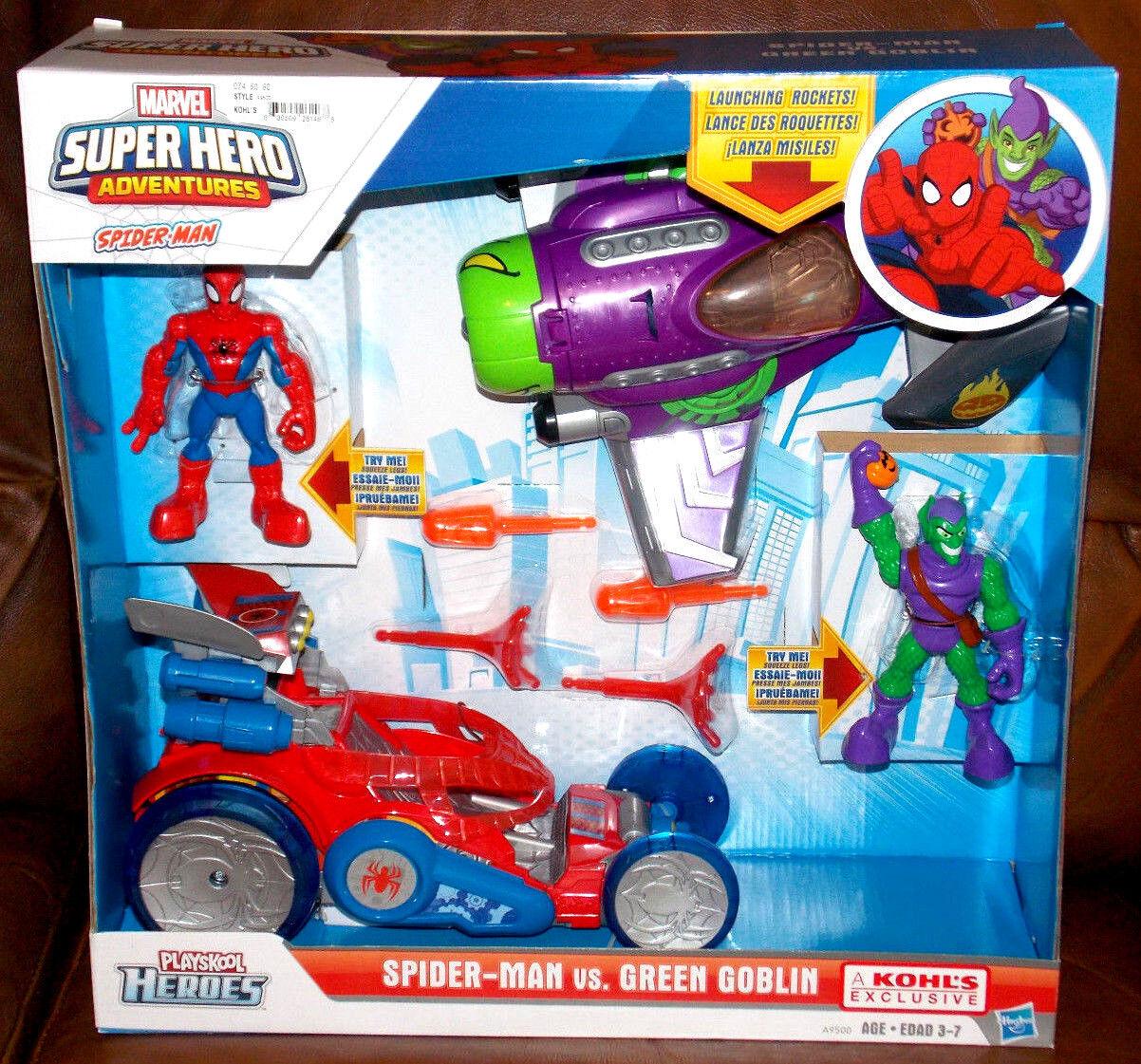 Marvel - superhelden - abenteuer playskool helden spider - man vs. Grün goblin setzen
