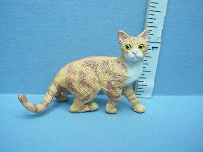 Miniature Orange /& Brown Cat #A4158OR Falcon Resin