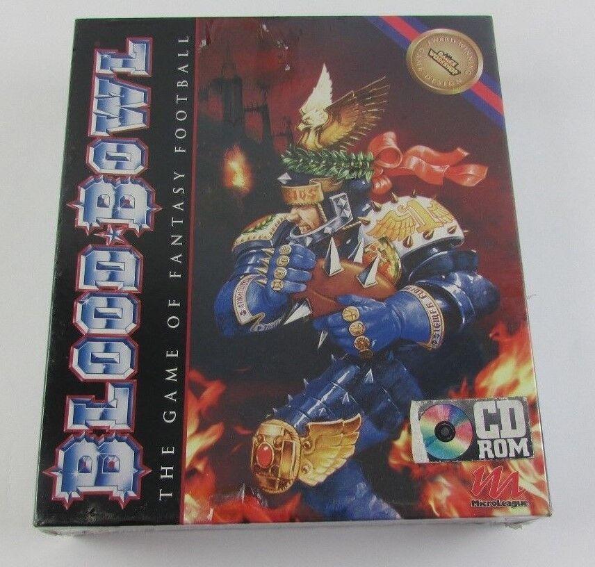 Blood Bowl The Game Of Fantasy Football 1995 CD ROM Game NIB Rare Collectible