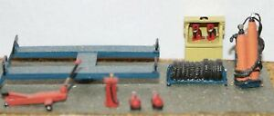 Garage-Workshop-Forecourt-fittings-OO-Scale-Unpainted-Langley-F116a