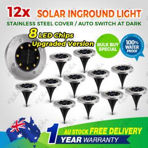 12x-Solar-Powered-LED-Buried-Inground-Recessed-Light-Garden-Outdoor-Deck-Path