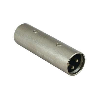 3-pin Xlr Male To Male Plug Coupler Gender Changer Dj Audio Microphone Adapter Een Plastic Behuizing Is Gecompartimenteerd Voor Veilige Opslag