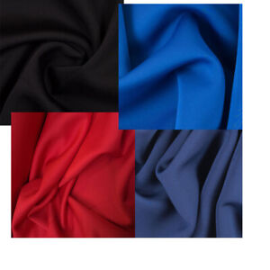 """Solid Scuba Neoprene Fabric Black, Blue, Red, Navy 60"""" Wide Polyester Spandex"""