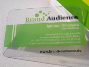 100 Custom Pvc Plastic Business Card Printing 0 5mm Glass Clear