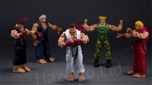Street-Fighter-RYU-KEN-GUILE-Character-Figure-Dolls-Action-Figures-with-Box