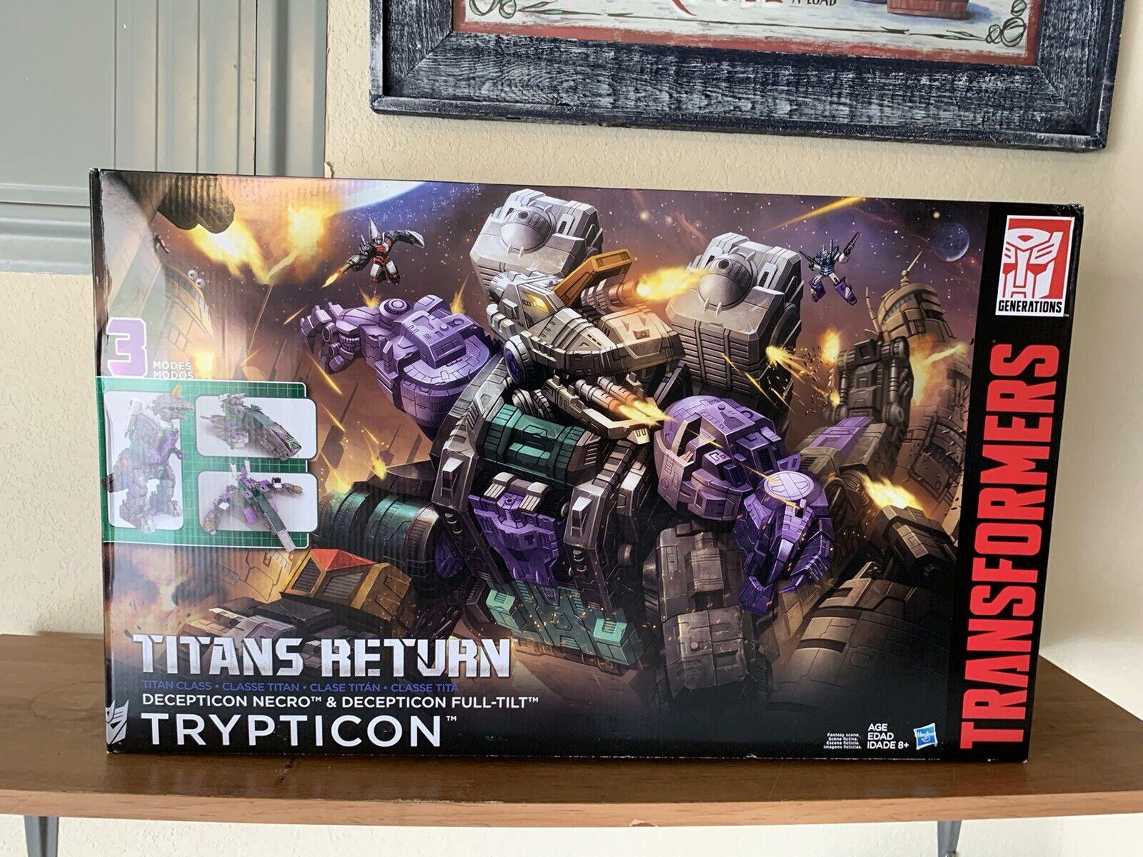 Transformers Generaciones Titan Clase Trypticon retorno Titanes