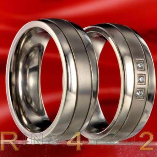 1 Paar Titan Freundschaftsringe Eheringe Verlobungsringe mit Innengravur 42P172