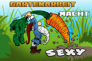 Gardening Macht Sexy Tin Sign Shield Arched Metal 20 X 30 CM