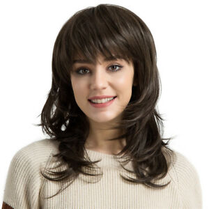 Long-Curly-Wig-Deep-Brown-Layered-Women-Wavy-Synthetic-Hair-Wig-Heat-Safe