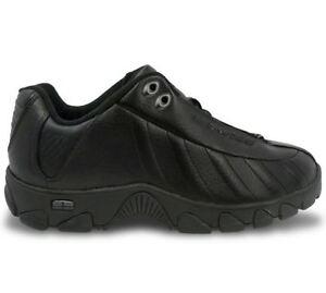 K-Swiss ST329 CMF 03426-008 Black Leather Sneakers Shoes Men