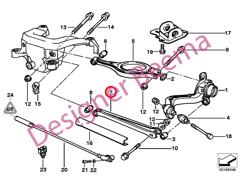 Bmw E36 And E46 3 Series Rear Lower Wishbone Control Arm For Sale