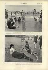 1899 Coney Island junto al mar Resort Staten Island Beach Scene