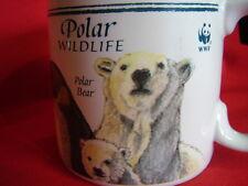cup mug World Wildlife Federation polar bear harp seal wolf emperor penguin