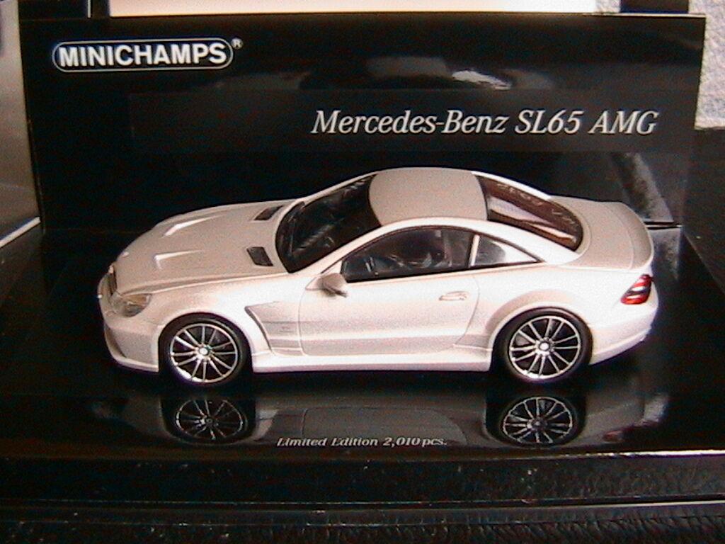 MERCEDES SL65 AMG R230 2009 MATT plata MINICHAMPS 436038220 1 43 LINEA OPACA 4