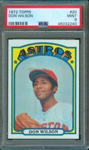 1972-Topps-MLB-Baseball-DON-WILSON-Astros-20-PSA-9-Rare-Only-11-Graded-Higher