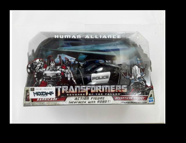 TRANSFORMERS HUMAN ALLIANCE BARRICADE /& FRENZY RD-24 ROBOT FIGURE TOY POLICE CAR