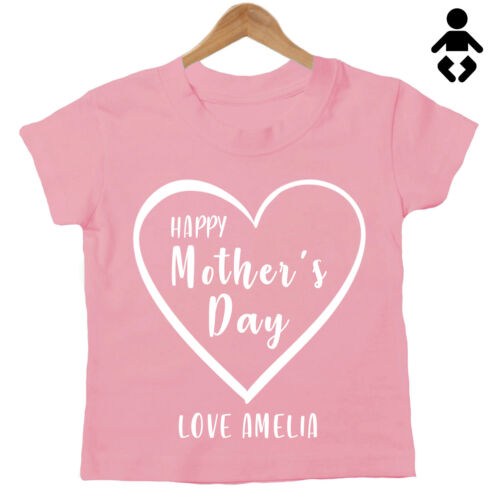HAPPY MOTHER/'S DAY Mum Mummy Mom Love .. Baby T-Shirt - Personalised name