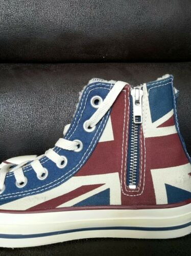 Star Taille All Neuf Chaussures Chucks 36 Angleterre 5 Drapeau Converse 5Bq4pAq