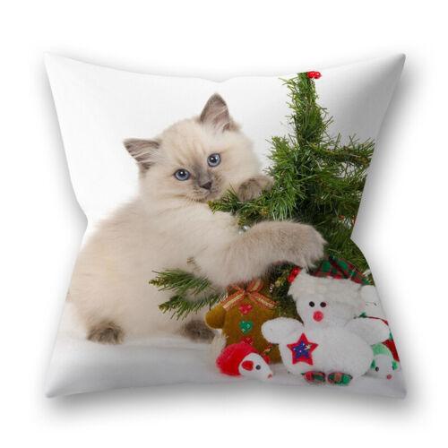 Almofada Cachorro Gato Natal caso Capas Sofá desperdiçares Capa De Almofada Animais Decoração