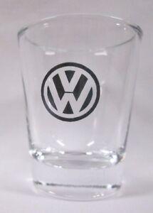 VW-Volkswagen-Logo-on-Clear-Shot-Glass