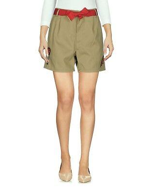 Shorts Donna Pantaloni Corti Pinko Italy I957 Beige/kaki Tg S Veste Grande