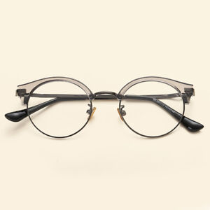 939c381bda9 Image is loading Eyeglasses-Glasses-Frame-Optical-Myopia-Half-Rim-High-