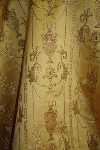 "Upholstery and  Drapery Color Gold Jacquard Fabric By the Yard 58/"" wide"