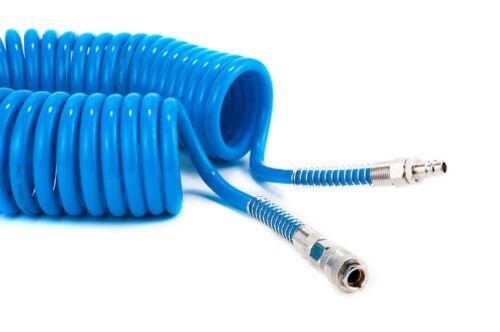 Druckluft Spiralschlauch PU 5 x 8 mm 5M mit Fix-Kupplung Druckluftschlauch GaV