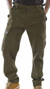 Click-Polycotton-Combat-Army-Military-Mens-Trousers-Pants-Black-Olive-Green-Navy