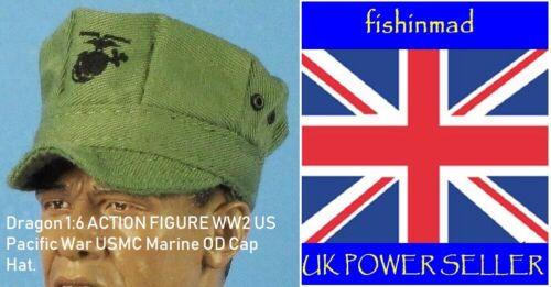 Dragon 1:6 miniature WWII WW2 US Guerre du Pacifique USMC Marine corps OD Cap Hat