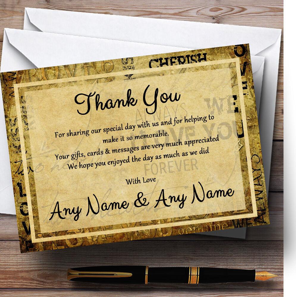 Vintage, je RemercieHommes vous aime style carte postale mariage Personnalisé Cartes RemercieHommes je t 20a863